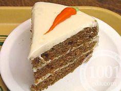 Морковный торт с орехами и крем-сыром