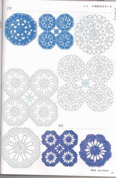 Delicadezas en crochet Gabriela: Patrones a granel de motivos geomètricos