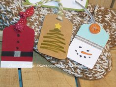 Love these easy, quick tags! They are so cute! Need to remember these next year!! BlueTricycleCrafts: StampinFriendsChristmas