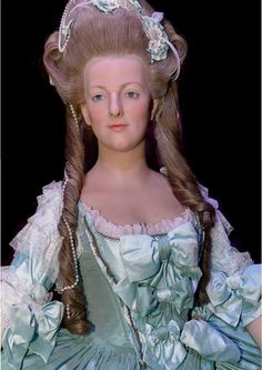 Wax sculpture of Marie Antoinette found at the Musée Grévin.