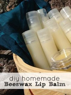 DIY Beeswax Lip Balm Recipe - make your own all natural Chapstick for way less than you can buy it in the stores!