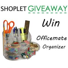 Win an Officemate Double Supply Organizer! Brought to you by Shoplet.  http://blog.shoplet.com/giveaways/win-an-officemate-double-supply-organizer/