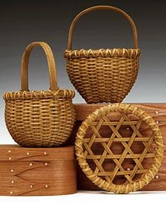 miniature Shaker baskets - so finely crafted and beautiful