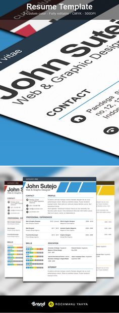 Freebie Elegante One Page Resume Template Psd