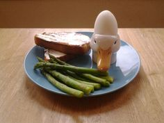 Duck egg, asparagus and tiger bread toast