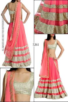 Net & Satin Border Work Plain Pink Bollywood Style Lehenga - S7005 at Rs 4568