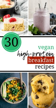 Vegan high-protein breakfast recipes for weight loss are the best way to start your day and be full until lunch. these healthy and easy vegan recipes are High Protein Breakfast, Vegan Breakfast Recipes, Vegan Recipes Easy, Breakfast Healthy, Breakfast Ideas, Protein Recipes, Vegan Recipes For Athletes, Vegan Breakfast Casserole, Healthy Breakfast Recipes For Weight Loss