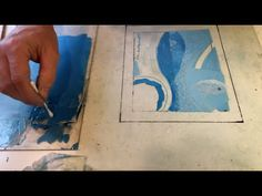 Hand Rolled Monotype with Joe Higgins - YouTube Collagraph, Cyanotype, Hand Roll, Printing Press, Painting Techniques, Artsy Fartsy, Creative Art, Printmaking, Stencils