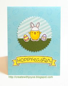 Happy Easter!   I'm sharing the last Easter card today. It's the simplest one and doesn't have any interactive element. I still like it fo...