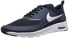 Nike Air Max Thea, Damen Sneakers, Blau (OBSIDIAN/WHITE 409), 44.5 EU - http://on-line-kaufen.de/nike/44-5-eu-nike-air-max-thea-damen-sneakers