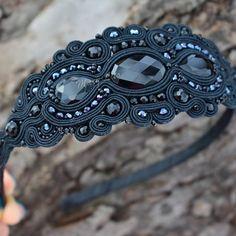 Soutache Bracelet, Soutache Jewelry, Beaded Jewelry, Diy Jewelry, Jewelery, Handmade Jewelry, Hair Decorations, Barrette, Shibori