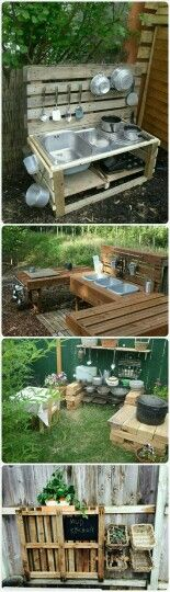 Just love these pallet ideas...