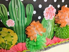 Cactus theme Bulletin Board Inspiration for Back to School