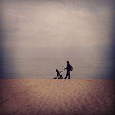 Walking through the sand
