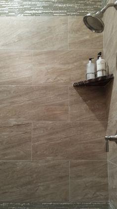 Ceramic tile for master shower.