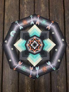 Ojos de Dios~Yarn Mandalas- Asheville Mandala Weavers by JaysMandalas Asheville, Tibetan Mandala, Gods Eye, Winter Night, Have Time, Gifts For Friends, Fiber Art, Hand Weaving, Diy And Crafts