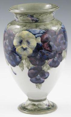 William Moorcroft Pottery, Moorcroft White pansy jardinere   china ...