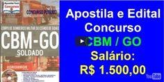 Apostila e Edital Para o Concurso público para Corpo de Bombeiros Militar do Estado de Goiás – CBM GO, Soldado ConcursoCBM GO 2016.para Soldado. Saiu o Concursode peso para você do Estad…
