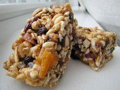 yummy granola bar/energy bar recipe