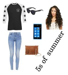 """""""I went to the 5s of summer concert"""" by zendaya090 ❤ liked on Polyvore featuring moda, G-Star, Quay, Nokia y Rebecca Minkoff"""