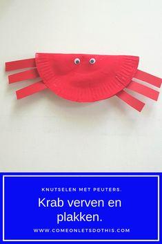 Thema water, thema strand, thema vakantie, th… - Knutselen ideeën Toddler Art, Toddler Preschool, Toddler Crafts, Summer Crafts For Kids, Summer Kids, Crab Crafts, Zoo Activities, Holiday Themes, Beach Themes