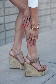 A pair of neutral wedges is a summer necessity!