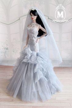 """Napatsaa Wedding Dress Gown Outfit Fashion Royalty FR2 Silkstone Barbie 12"""" Doll #fashionroyalty"""