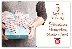 5 Days of Making Christmas Memories, Stress-Free! Christmas Tress, All Things Christmas, Christmas Activities, Christmas Projects, Free Day, Stress Free, Memories, Read Aloud, Homeschooling