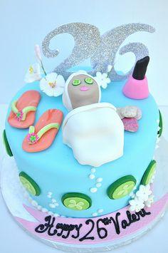 Birthday Cakes For Girls - Novelty Birthday Cakes Spa Party Cakes, Spa Party Foods, Spa Cake, Spa Day Party, Kids Spa Party, Pamper Party, Spa Birthday Cake, Novelty Birthday Cakes, 10th Birthday