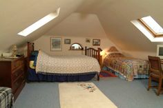 "attick rooms | Clouds"" double attic bedroom"
