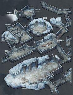 Dungeon of the Frozen King, Jon Pintar on ArtStation at https://www.artstation.com/artwork/k9bl6