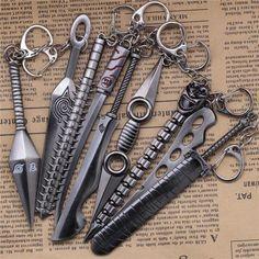 10cm Naruto Weapon Model keychain Ninja Kunai Figure Pendant Toy Anime Accessories key chain gift