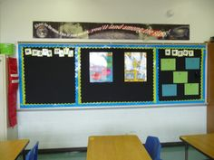 Unit posters for Year 7-9 in the classroom. One board dedicated to each year level?