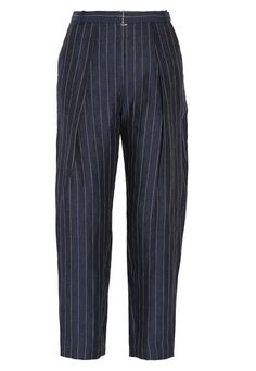 Pattern Play: By Malene Birger Angelie pinstriped linen tapered pants