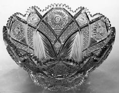 Pairpoint Glass Patterns | ... Punch Bowl Cut in the Silverleaf Pattern by Mt. Washington/Pairpoint