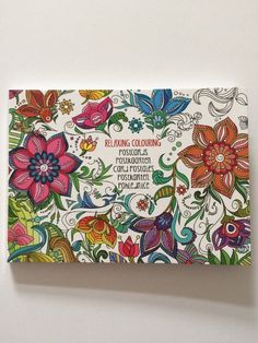 20 x Postkarten Weihnachten Malen Mandala Basteln Geschenk Buch Karten Neu Blume | eBay