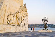 La esfera armilar de los descubrimientos Belem, Mount Rushmore, Mountains, Nature, Travel, Lisbon Portugal, Boater, Bridges, Palaces