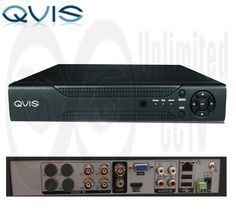 4 Channel QVIS Full D1 DVR 4CHQVIS_ATL This four channel QVIS DVR compresses the video footage using H.264 (MPEG 4 AVC), and uses HDMI, VGA and BNC as an output. Records at 100fps at Full D1 resolutions (based on 25fps per channel). This QVIS DVR has netw - Unlimited CCTV