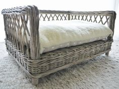 Hello Gorgeous!  The Charley Chau Rattan Dog Bed.   A perfect fit for our Snuggle Beds and Day Beds.