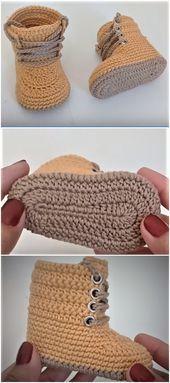 Crochet Baby Combat Boots - Baby Boots Combat Crochet crochet ideas for bab.Crochet Baby Combat Boots - Baby Boots Combat Crochet crochet ideas for baby room Crochet Baby Combat Boots - Claire C. Crochet Baby Boots, Crochet Baby Clothes, Crochet Slippers, Crochet Hair, Booties Crochet, Crochet Baby Stuff, Crochet For Baby, Crochet Slipper Boots, Crochet Summer