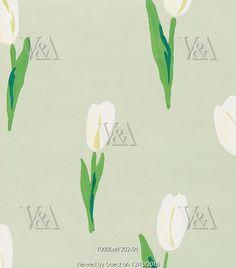 A design depicting tulips, by Joyce Badrocke. England, UK, 20th century