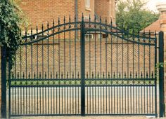 decorative wrought iron garden gates