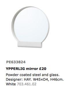 IKEA YPPERLIG Speil kr. 200,-