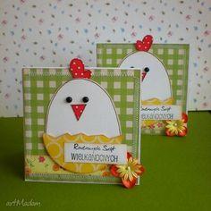 Wielkanocne kurczaczki komplet scrapbooking kartki barbara święta