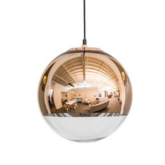 Clean, simple style combined with a clear spherical form, this pendant lamp speaks the art-meets-industry language of German Modernism. The gleaming finish lends living art to this light piece, which a... Find the Sphere Pendant Lamp, as seen in the We Love 1950s Style Collection at http://dotandbo.com/collections/we-love-1950s-style?utm_source=pinterest&utm_medium=organic&db_sku=DBI9016-CPR
