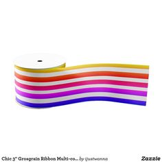 """Chic 3"""" Grosgrain Ribbon Multi-colored Striped Unique Gifts For Her, Cool Gifts, Best Gifts, Personalized Products, Personalized Wedding, Personalized Gifts, Gift Wrapping Supplies, Gifts For Your Girlfriend, Christmas Gift Wrapping"""