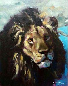 Lion Art, Badass, Painting, Animals, Ideas, Animales, Animaux, Painting Art, Paintings