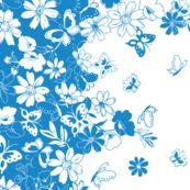 ButterflyDaisyBorder fabric by thornbirds for sale on Spoonflower - custom fabric
