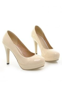 2013 Vogue High Heel Shoes Beige [Shoes5.29.8] - $30.00 : EverMissFashion.com