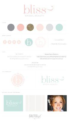New Brand Design | Bliss Bridal Beauty By Salted Ink Digital Design Co. | www.saltedink.com